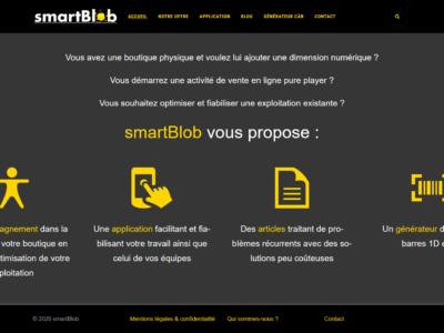 Nouveau site : smartBlob.eu